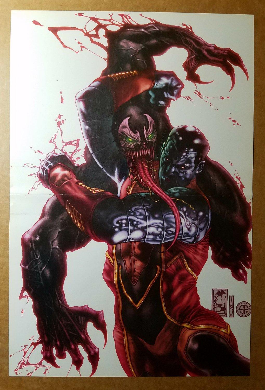 X-Men Colossus Vs Venom Spider Man Marvel Comics Poster by Simone Bianchi