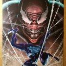 Spider-Man in Black Vs Venom Marvel Comics Poster by Stefano Caselli