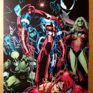 Spiderman Dark Avengers Iron Man Patriot Venom Ms Marvel Poster by Phil Jimenez