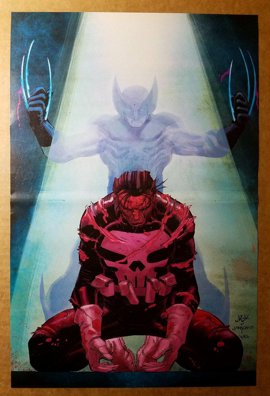 Wolverine Daken Vs The Punisher Marvel Comics Poster by John Romita Jr