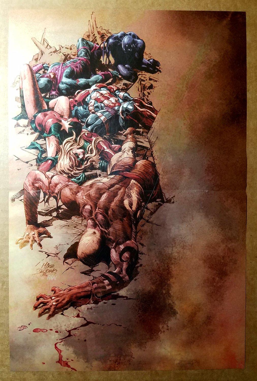 Dark Avengers Daken Wolverine Hawkeye Marvel Comics Poster by Mike Deodato