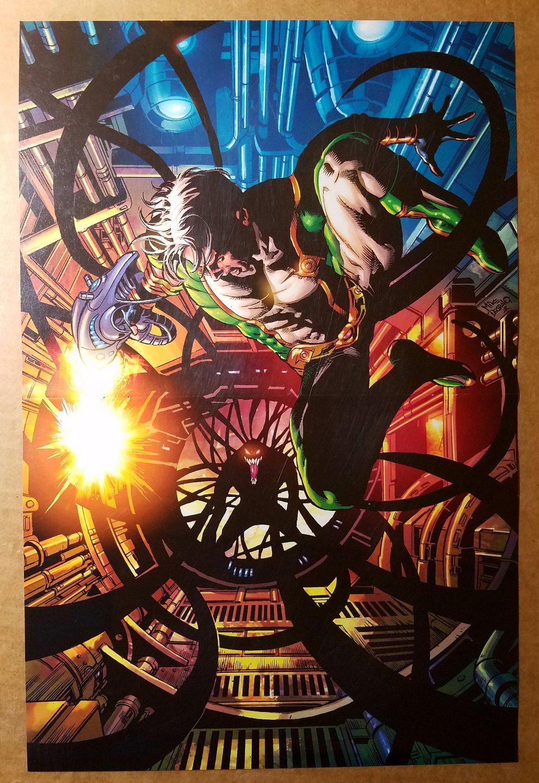 Dark Avengers Marvel Boy Vs Venom Spider-Man Marvel Poster by Mike Deodato Jr