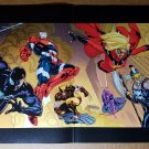 Iron Man Spider-Man Hawkeye Ares Ms Marvel Comics Poster by Don Heck
