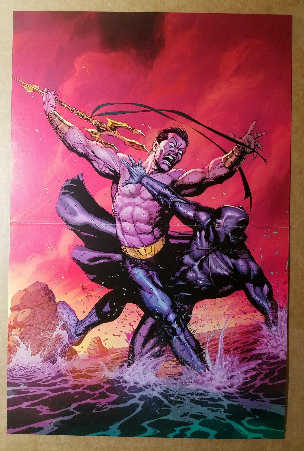 Black Panther 21 Namor Marvel Comics Poster by Gary Frank