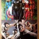 Black Panther X-Men by Michael Turner Captain America by Steve Epting Poster