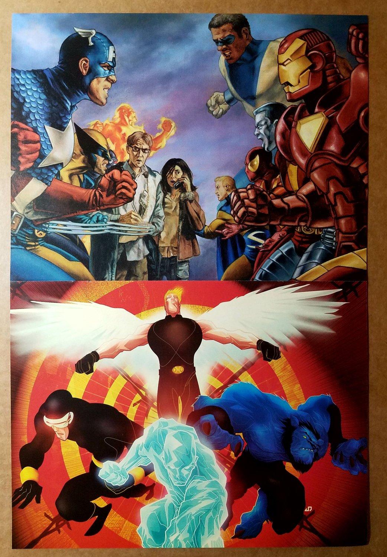 Civil War Marvel Universe by John Watson X-Men by Juan Doe Comic Poster