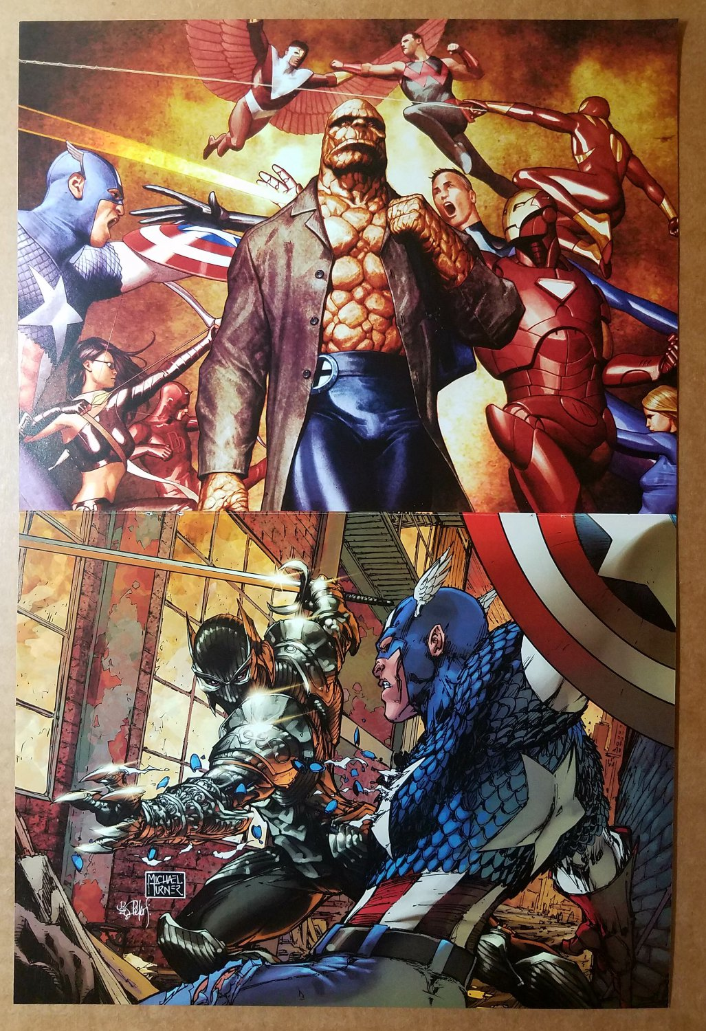 Fantastic Four 541 by Adi Granov Poster Black Panther 23 by Michael Turner