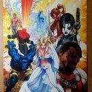 X-Men White Queen Beast Shatterstar Domino Marvel Comics Poster Michael Turner
