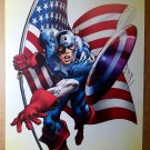 Captain America American Flag Marvel Comics Poster by Neal Adams