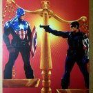 Captain America Bucky Scales Marvel Comics Poster by Steve Epting