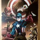 Captain America Eagle Marvel Comics Poster by Gurihiru