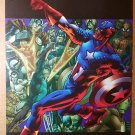 Captain America Avengers Marvel Comics Poster by Bryan Hitch