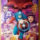 Captain America Avengers Red Skull Marvel Comics Poster by Patrick Scherberger