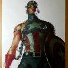 Captain America Marvel Comics Poster by Gerald Parel