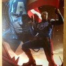 Captain America Marvel Comics Poster by Marko Djurdjevic