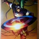 Captain America throwing shield Marvel Comics Poster by Lee Garbett