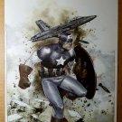 Captain America Jet Bomber Bombing Marvel Comics Poster by Olivier Coipel