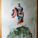 Captain America The Chosen watercolor Marvel Comics Poster by Mitch Breitweiser