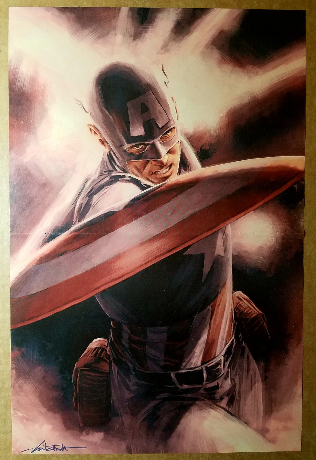 Captain America Theater of War Marvel Comics Poster by Mitch Breitweiser