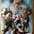 Captain America Thor Iron Man Avengers Marvel Comics Poster by Adi Granov