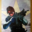 Captain America Bucky Winter Soldier Marvel Comics Poster by Steve Epting