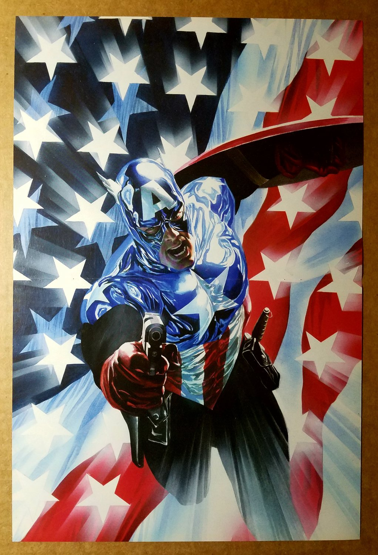 Captain America Flag Marvel Comics Poster by Alex Ross