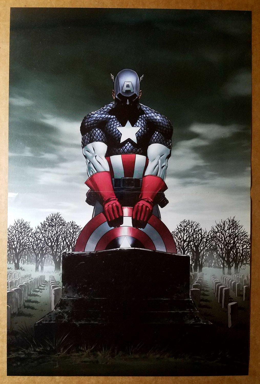Captain America Grave Marvel Comic Poster by Steve Epting