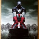Captain America Grave Marvel Comic Poster by Steve Epting
