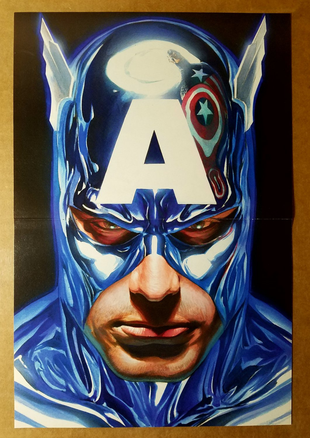 Captain America shiny suit Marvel Comic Poster by Alex Ross
