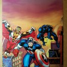 Avengers Captain America Falcon Black Panther Marvel Poster by Frank Robbins