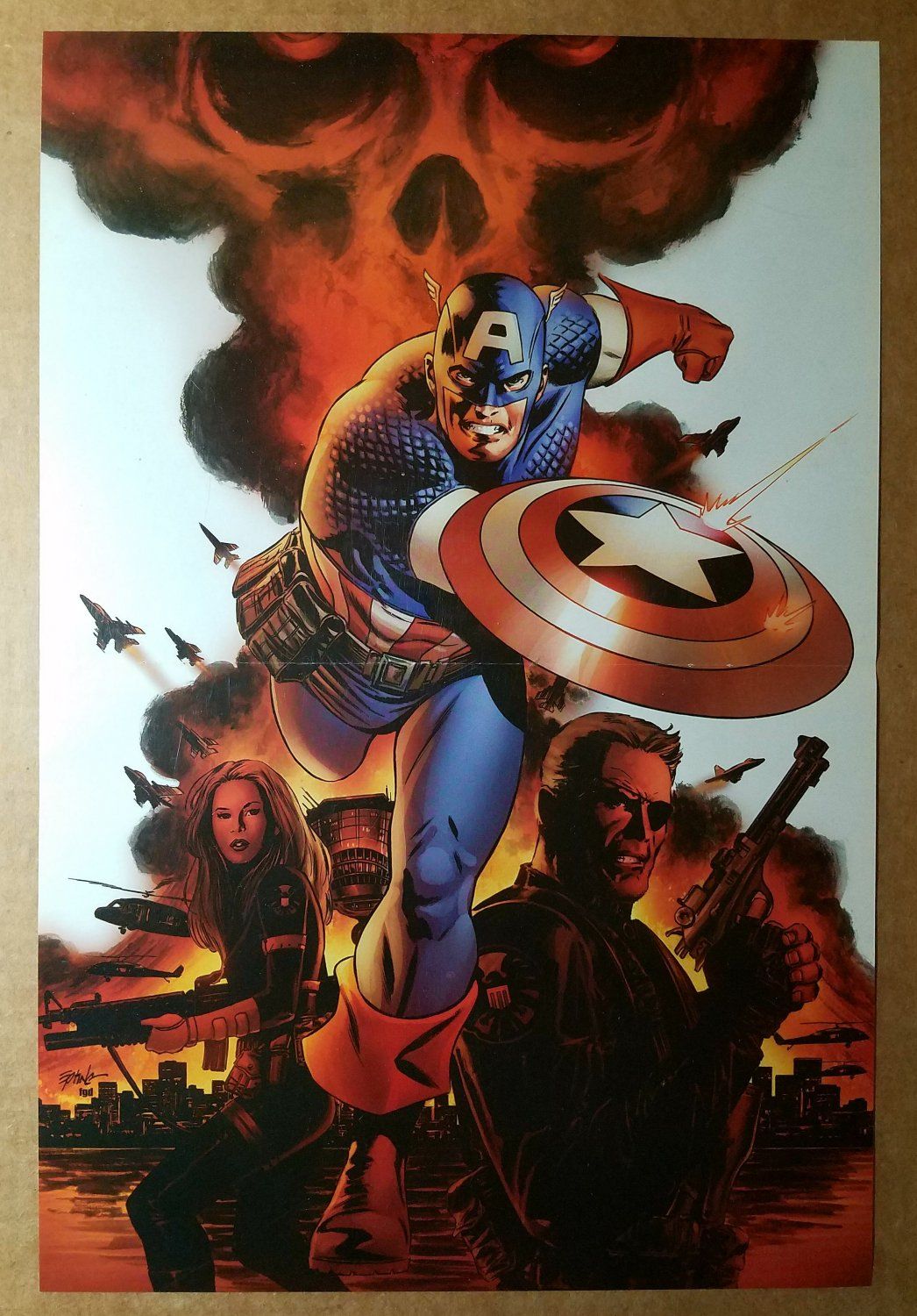 Avengers Captain America Marvel Comics Poster by Steve Epting