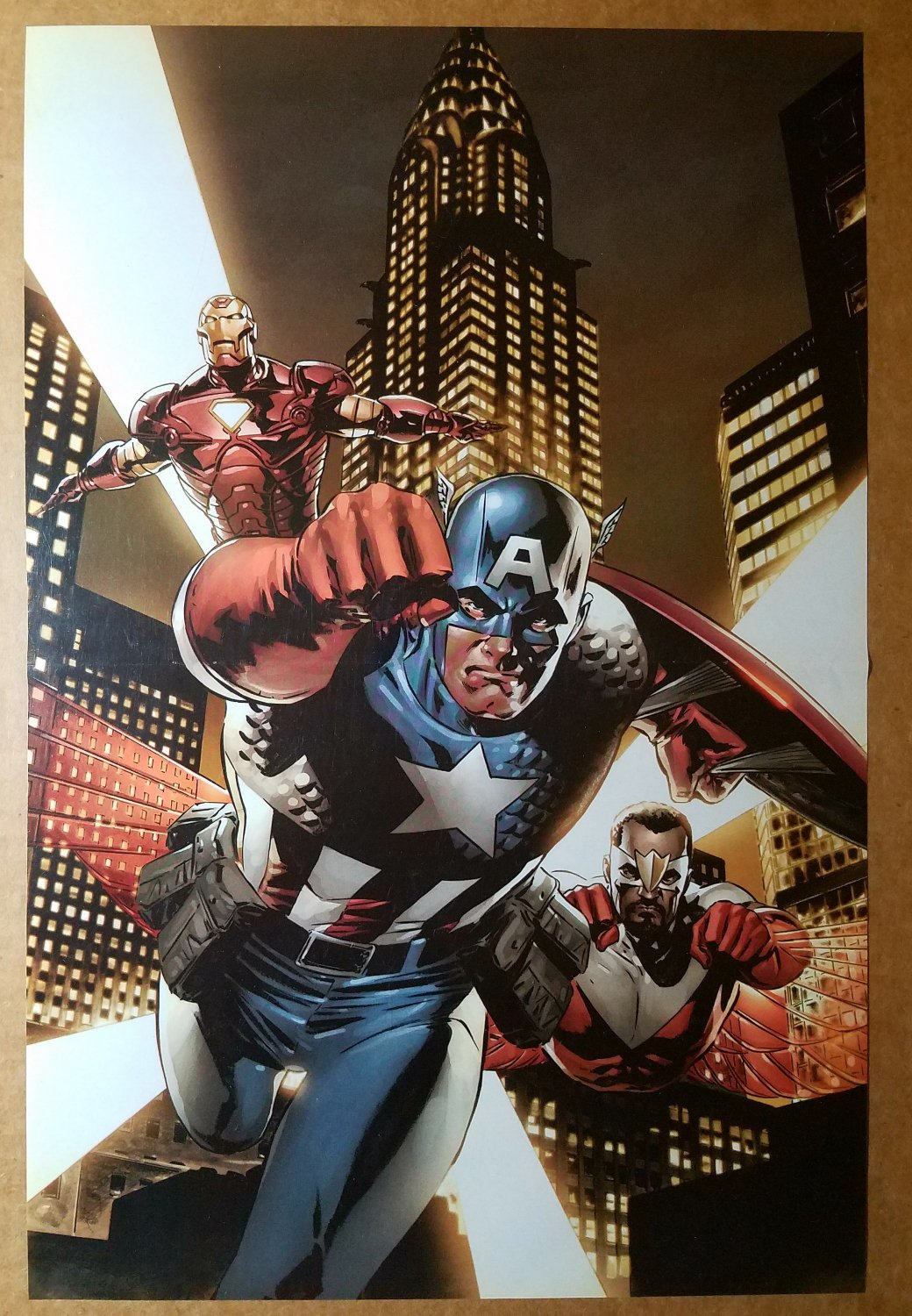 Avengers Captain America The Falcon Iron Man Marvel Comic Poster by Steve Epting