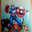 Avengers Captain America Thor Iron Man Black Panther Marvel Comic Poster by Jack Kirby