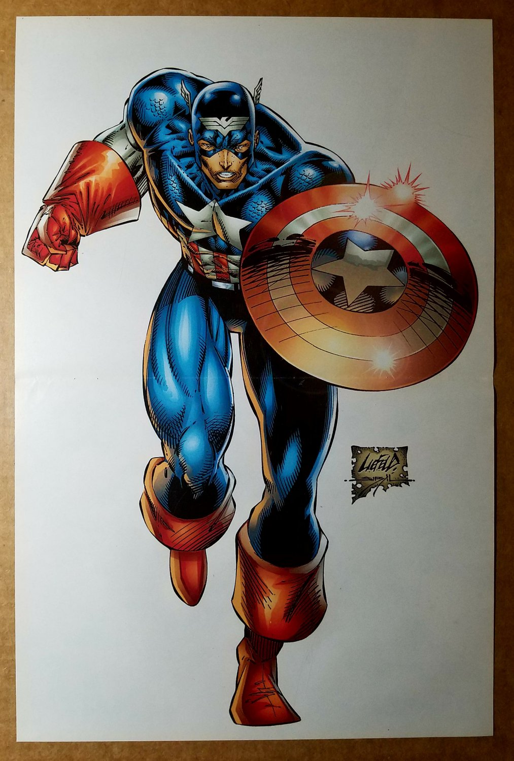 Captain America Heroes Reborn Marvel Comics Poster by Rob Liefeld