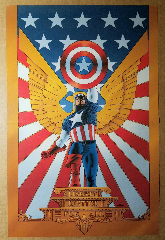 Captain America Marvel Comics Poster by John Cassaday