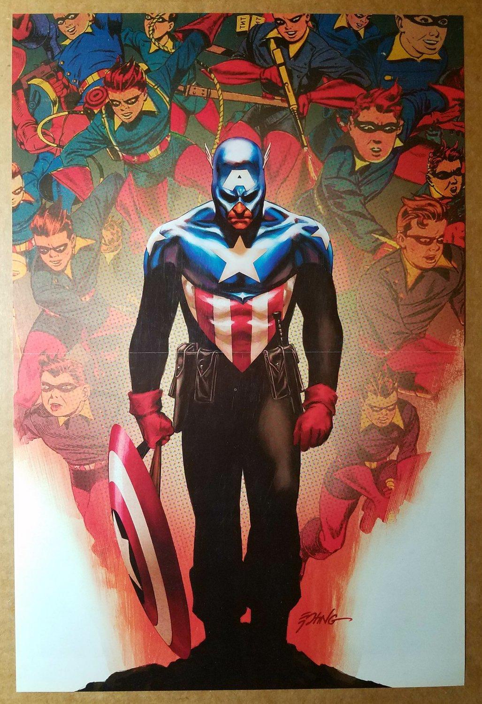 Avengers Captain America Bucky Marvel Comics Poster by Steve Epting