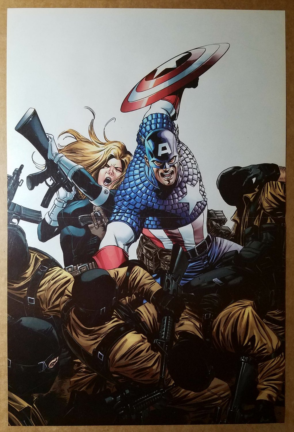 Avengers Captain America Marvel Comic Poster by Steve Epting