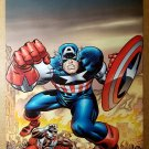 Avengers Captain America The Falcon Marvel Comics Poster by Jack Kirby