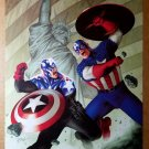 Captain America Bucky Statue of Liberty Flag Marvel Comics Poster by Steve Epting