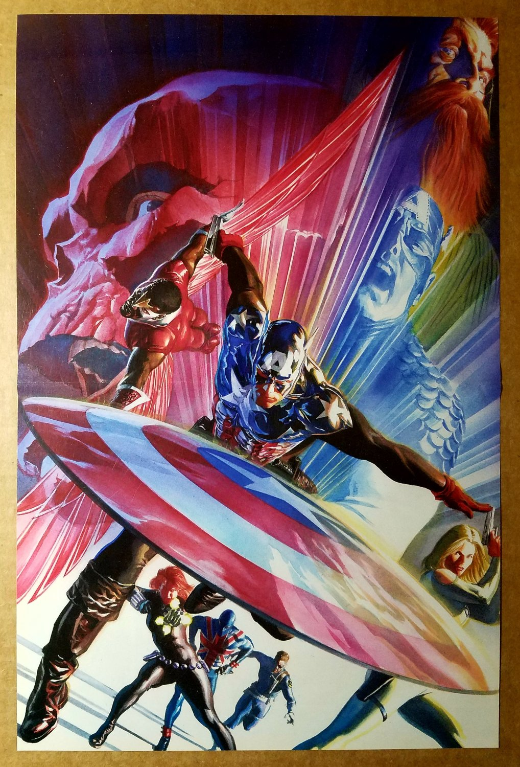Captain America Black Widow Falcon Nick Fury Marvel Comic Poster by Alex Ross