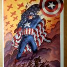 Captain America Fight for Freedom Flag Soliders Marvel Poster by John Cassaday