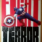 Captain America 2 Fight Terror Marvel Comic Poster by John Cassaday