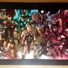 Avengers Black Widow Captain America Thor Marvel Poster by Marko Djurdjevic