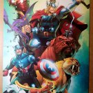 Avengers Pet Avengers Iron Man Thor Captain America Ig Guara Marvel Poster