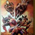 Avengers Thor Captain America Spider-Man Wolverine Marvel Poster by John Romita