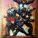 Secret Avengers Black Widow Iron Man Nova Marvel Comics Poster by David Yardin