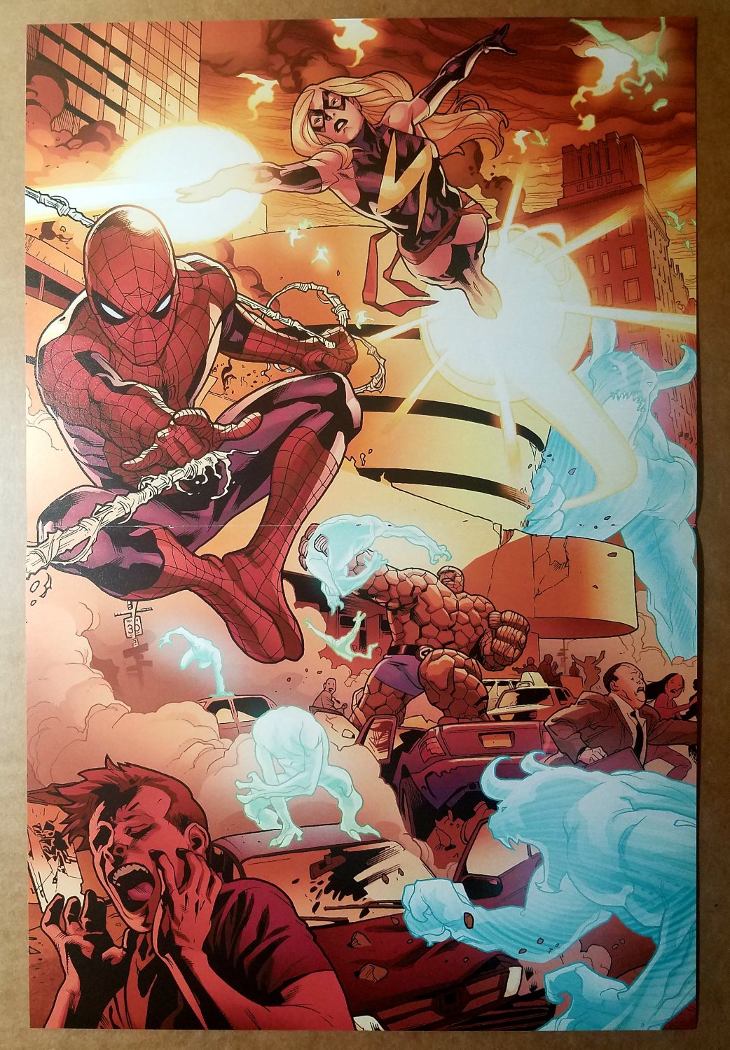 Spider-Man Ms Marvel The Thing Marvel Comics Poster by Stuart Immonen