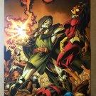Fantastic Four Dr Doom Spider woman Avengers Marvel Comics Poster by Mark Bagley