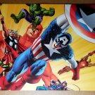 Avengers Captain America Hulk Thor Marvel Comics Poster by John Cassaday
