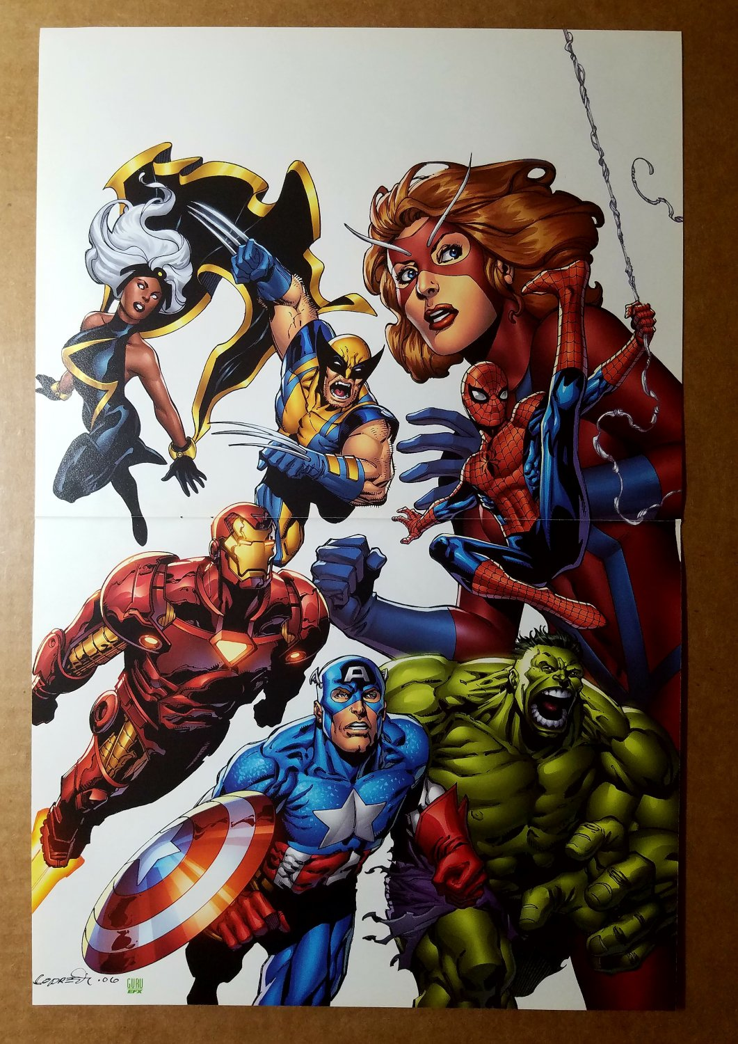 Avengers Wolverine Storm Captain America Marvel Comics Poster by Aaron Lopresti